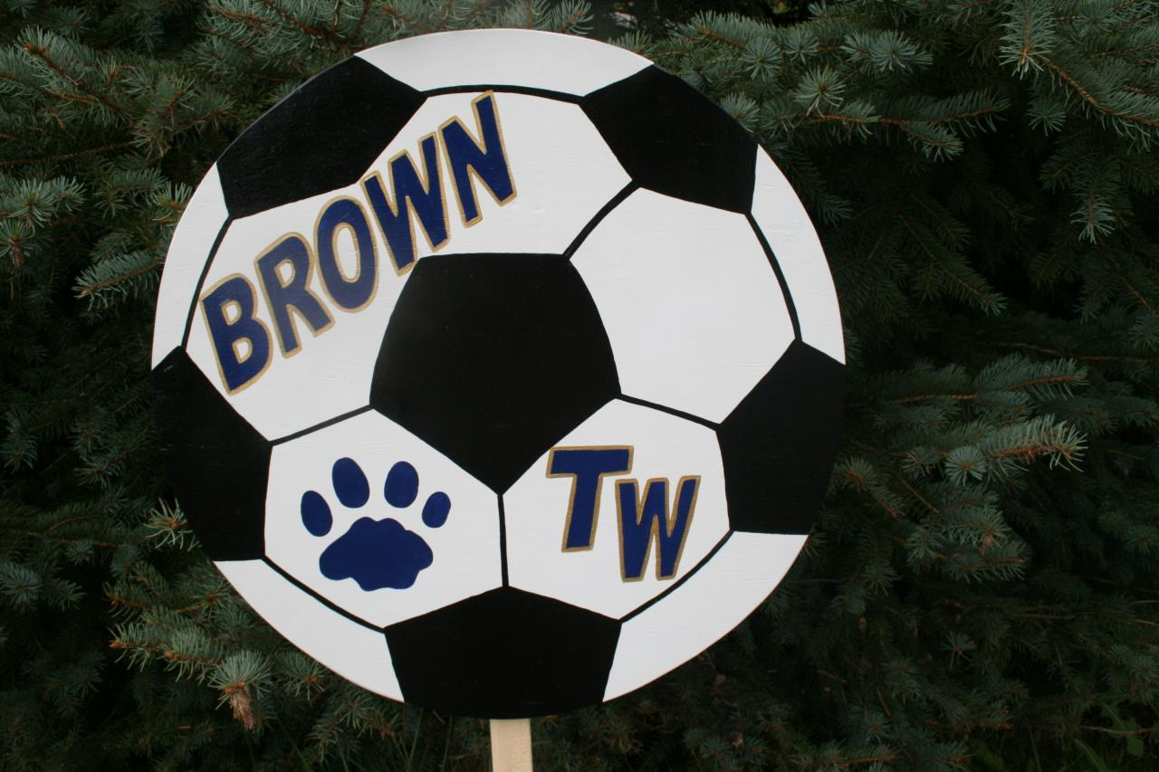 Personalized Sports Yard signs, football, baseball